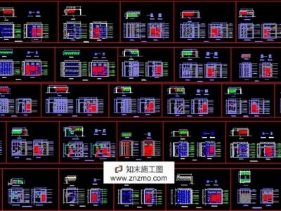 78种衣柜鞋柜施工图下载