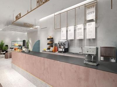 现代都市商场奶茶店3D模型【ID:333128148】