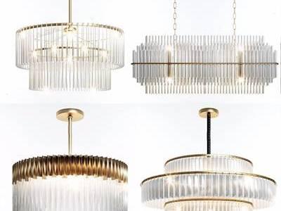 水晶吊灯组合 现代水晶灯 吊灯组合
