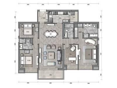 【矩阵纵横】华润城润府二期丨A3-B3-C3样板间+大堂+标准层丨彩平+施工图丨61M施工图下载