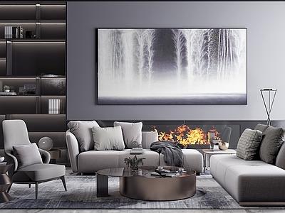 现代沙发3d模型下载【ID:132751023】