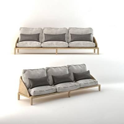 意大利 Potocco 现代多人沙发 现代多人沙发 布艺沙发 实木沙发 意大利 Potocco