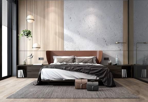 现代卧室3d模型下载【ID:46234739】