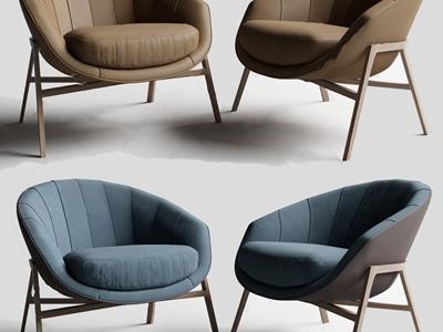 现代休闲椅3D模型【ID:333127009】