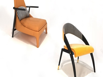 现代单椅3D模型【ID:333126034】