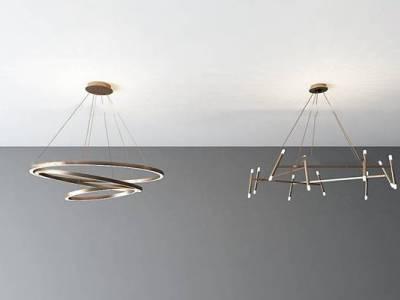 现代时尚吊灯组合3d模型
