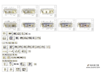 一套十分完整的咖啡厅施工图附带效果图施工图下载