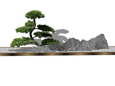 庭院盆栽SU模型