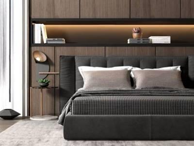 现代床具3d模型下载【ID:75248408】