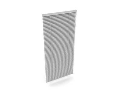 白色塑料百叶帘3D模型【ID:70910958】