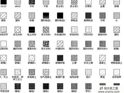 CAD填充图案(木、云石、玻璃、特殊图案)施工图下载