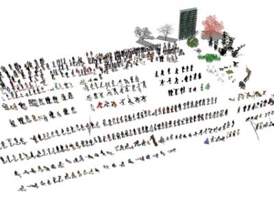 精品免费常用人物动物植物合集SU模型
