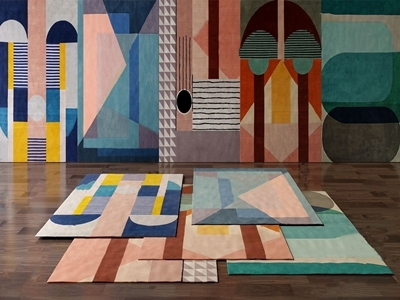 现代风格地毯3D模型【ID:434905612】