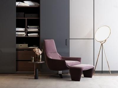 现代休闲椅3D模型【ID:934905625】
