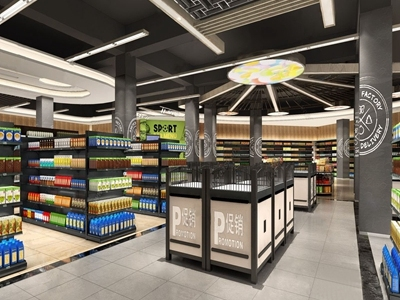 现代超市3D模型【ID:533126378】