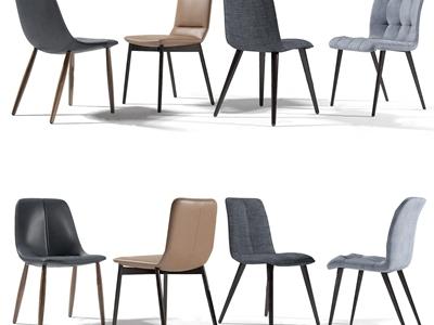 现代单椅组合3D模型【ID:333127004】