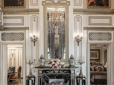 法式风格奢华描金别墅样板房 全套施工图+实景图施工图下载
