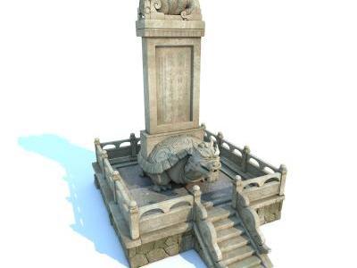 中式碑文 石碑 功德碑 古建小品 园林小品 建筑小品 赑屃