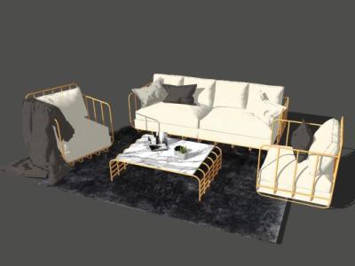 沙发组合SU模型下载【ID:425895106】