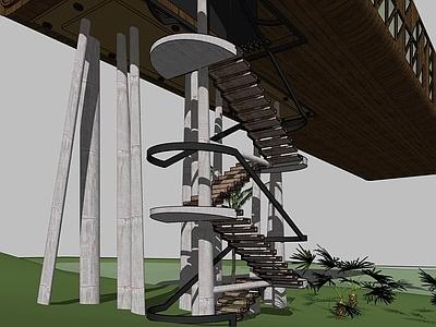 室内外木台阶楼梯