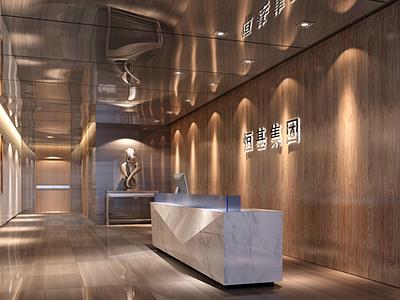 混搭风格恒基集团办公空间设计 施工图+效果图施工图下载