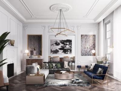 北欧古典欧式 吊灯 懒人沙发 落地灯 装饰画 壁炉