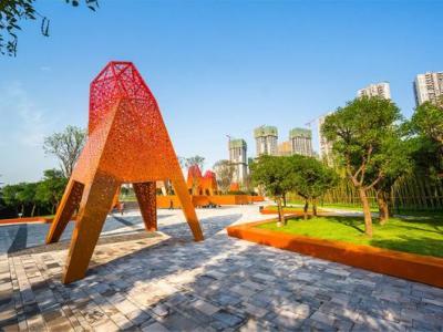 万科金色悦城景观园建施工图+现场图片施工图下载