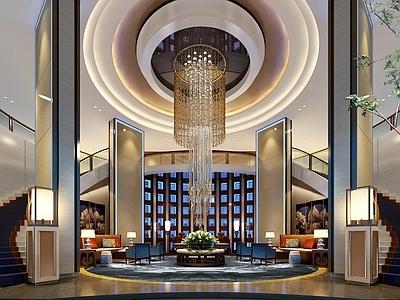 姜峰--平顶山建国迎宾馆室内全套施工图、高清效果图施工图下载