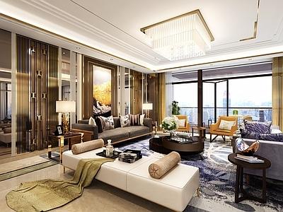 琚宾HSD-重庆招商置地豪宅样板间A户型 设计方案+效果图+施工图施工图下载