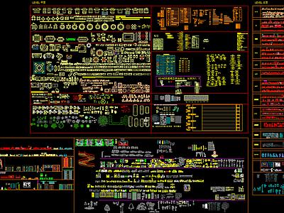 整理CAD图库 平立面 部分节点施工图下载