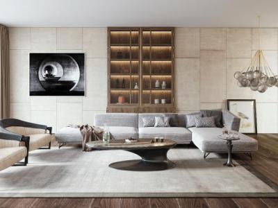 奢华现代沙发组合3d模型下载【ID:325759329】