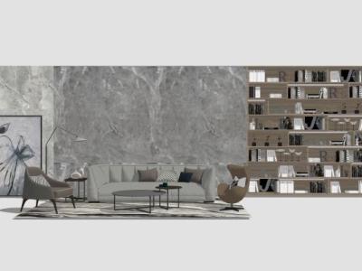 现代简约客厅沙发组合SU模型下载【ID:731513691】