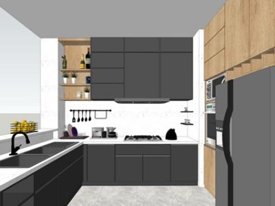 精品免费北欧风格厨房设计SU模型