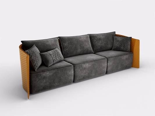 意大利 宾利 Bentley Home 三人沙发 后现代多人沙发