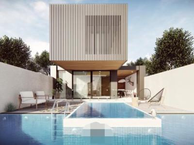 现代别墅建筑游泳池带效果图SU模型下载【ID:230007323】
