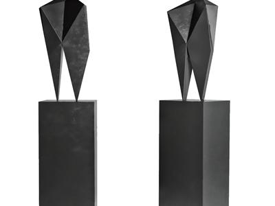 现代石头雕塑摆件3D模型【ID:333128893】