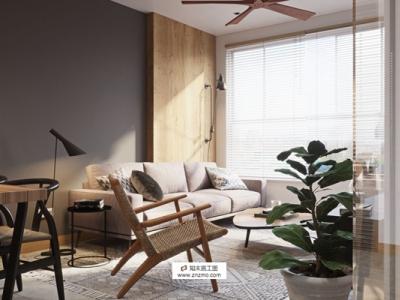 文艺范儿精装修公寓,理想中的春暖花开施工图下载