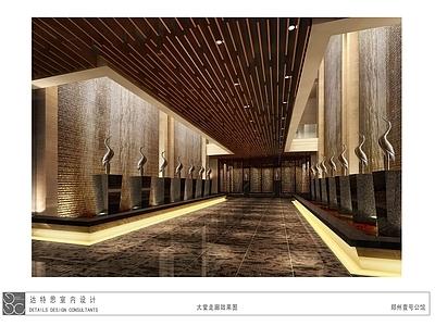 郑州一号公馆设计 施工图+效果图+物料手册+艺术品方案施工图下载