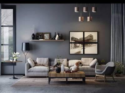 北欧现代沙发组合3D模型【ID:15422602】