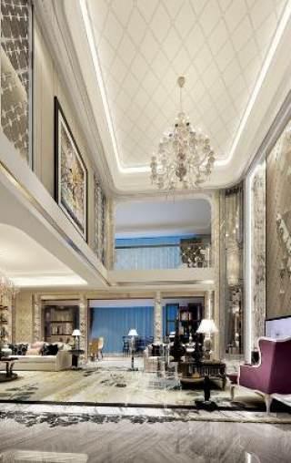 [法式风格]--法式新古典风格复式别墅施工图 效果图施工图下载【ID:530995404】