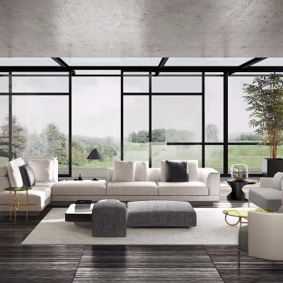 (悬赏模型)意大利MolteniC品牌 现代转角沙发组合3D模型