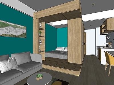 现代单身公寓全模