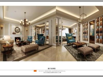 【集艾设计】武汉汉南8区别墅样板间丨软装+装饰画+软装报价(无CAD)施工图下载
