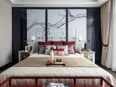 75套现代中式轻奢风格别墅室内装饰设计作品合集(无CAD)施工图下载