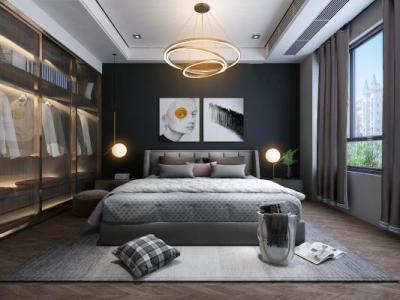 现代卧室3d模型下载【ID:426220362】