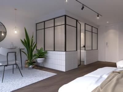 现代风格卫生间植物梳妆台床挂画吊灯壁灯楼梯SU模型下载【ID:232823301】