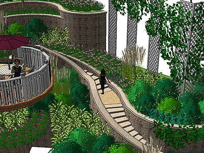 龙湖景观种植模型