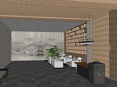 新中式公寓酒店大堂