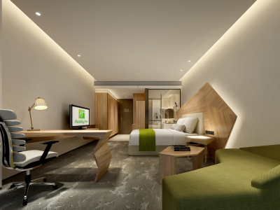 【限时7天免费】【BCA】上海宝山假日酒店丨效果图方案+样板间CAD图纸+物料丨125M施工图下载