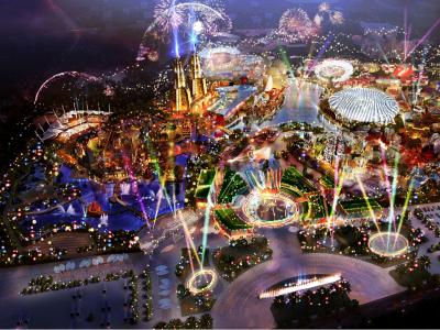 【主题乐园】海南环球100一期主题乐园建筑设计方案丨2018.08试营业施工图下载